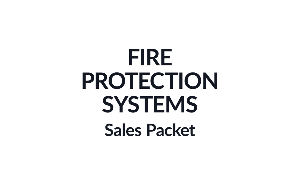 Fire Protection Systems Sales Packet Burgundy Group Work Example