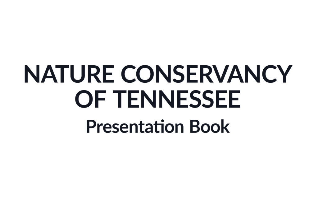 Nature Conservancy of Tennessee Mussels Presentation Book Burgundy Group Work Example