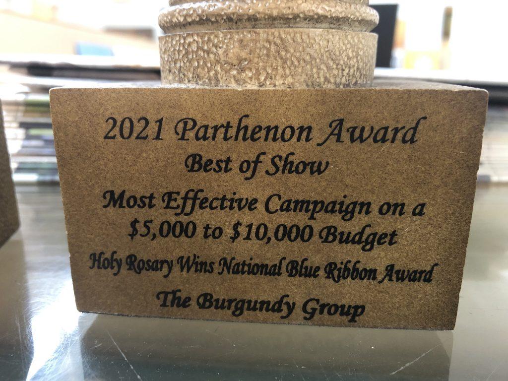 Burgundy Group Advertising Wins Nashville PR Award for Holy Rosary Academy Blue Ribbon School Award
